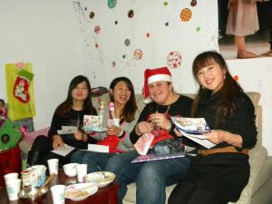 1st Christmas Eve party with the girls! Coco, Nancy, Jillayne, & Ivy (Sarah & Sabrina not pictured but still much loved)