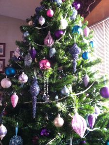 It'll be a blue Christmas . . . and pink and purple too!