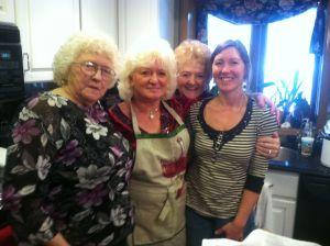 Left to Right: Grandma, Aunt Carol, Aunt Bonnie, Julie