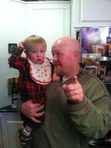 Matt and his little man Abram