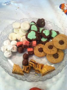 Homemade candies and cookies to tickle the taste buds .