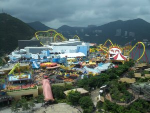 Hong Kong has two amusement parks, Oceans Park and Disneyland. I skipped Disney because it's the same at home. Oceans Park was an awesome combination of thrill rides, shows, and aquariums.