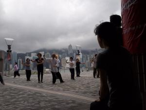 The Hong Kong Tourism Board offers free tai chi classes at Victoria Harbour beside the art museum.